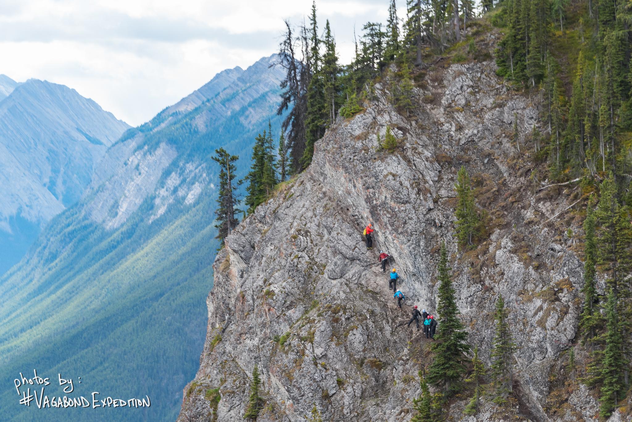 Climbing the Mt Norquay ViaFerrata